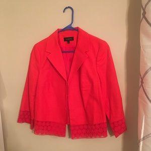 Talbot's bright orange blazer